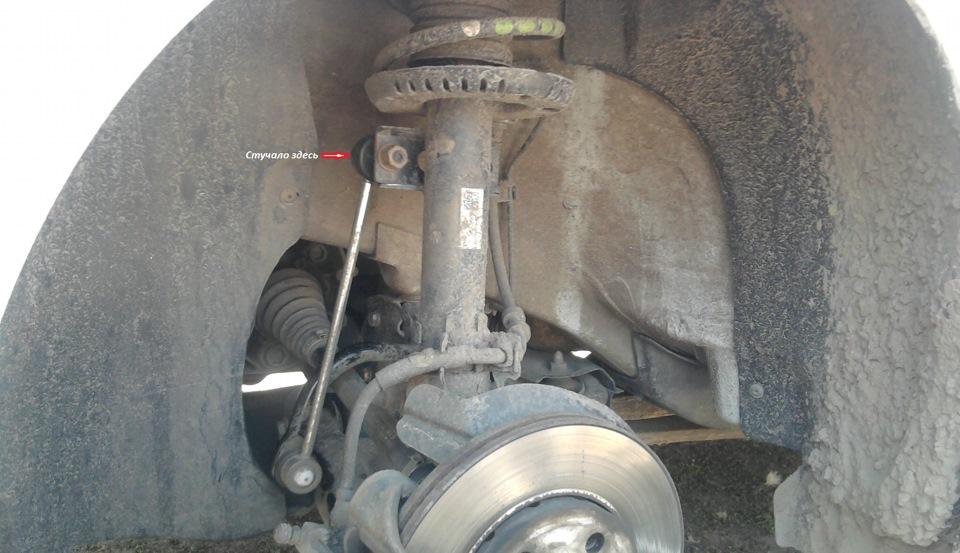 замена стоек стабилизатора на volkswagen polo sedan