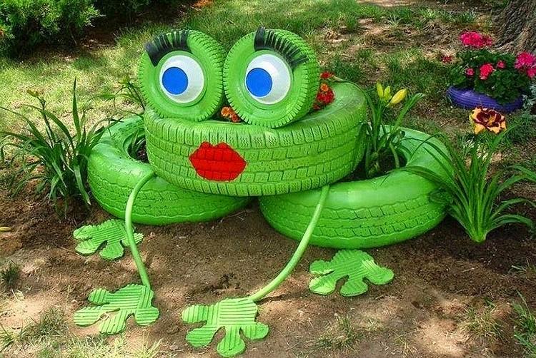 Как делается лягушка из шин - Шины и диски 63