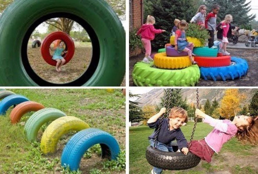 Шины для детской площадки