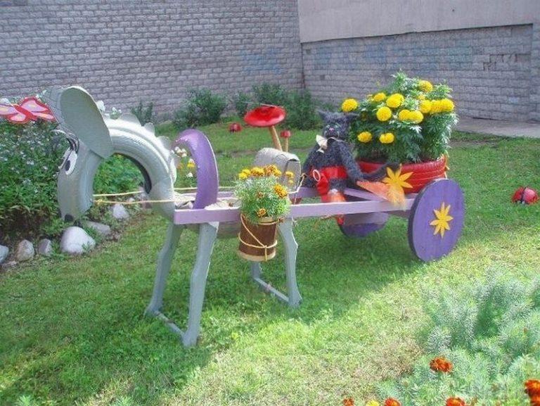 Сделать украшения сада своими руками