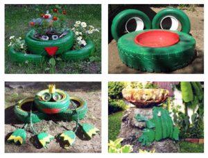 Как делается лягушка из шин - Шины и диски 53
