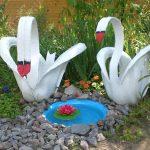 Лебеди из шин: как сделать самостоятельно
