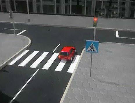 Парковка перед светофором