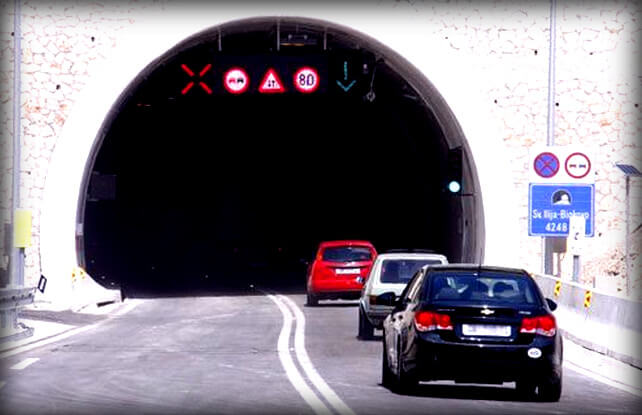 Парковка в тоннеле