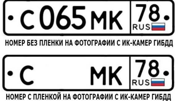 Пленка для номера авто