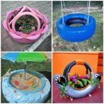 Какие поделки из шин для детской площадки очень просто сделать