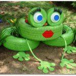 Как делается лягушка из шин