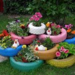 Что можно сделать для сада из шин самостоятельно